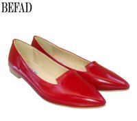 leather flat shoes - Designer Casual Shoes Pointed Toes Leather Flat Heel Shoes Rubber Bottom Fashion Trend Shoes for Spring Autumn