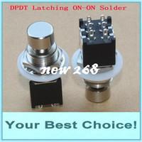 100pcs / Lot mini DPDT prenderse / en la guitarra Efecto Push Button pisa fuerte interruptor de pedal del pie (el envío libre de DHL a la mayoría del país)