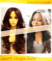 Wholesale Cheap body wave lace front wig peruvian human hair glueless full lace wig with bleached knots hot selling lace front wig