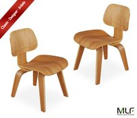 Wholesale MLF Molded Plywood Dining Chair ply Durable Hardwood Seat Back and ply Legs Rubber Shock Mounts Absorb Movement Set of