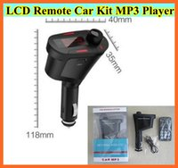 Wholesale Multi Color With LCD Fm Wireless transmitter Car mp3 player MP3 WMA USB SD MMC SD Card USB Port