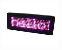 Wholesale Pink color cm length Mini Programmable Scrolling LED Name Message Advertising Tag Badge Pixels