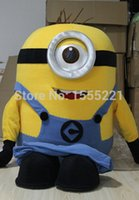 Wholesale 2015 High quality Cartoon Movie Despicable Me Minion Mascot Costume With Smile For Adult cvfbhf7u