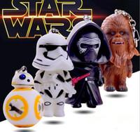 bb chains - 2016 NEW Star Wars Keychain Cartoon StarWars key ring KaiLuoLun Chewbacca BB Stromtrooper rotating key chain gift DHL Free