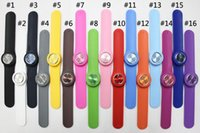 Unisex bag slap - High Quality silicone slap watch kids slap watch children watches kinds of color opp bag packaging SS COM