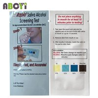 alcohol test strips - Cheap Disposable Alcohol Tester Bag Alcohol Test Kit Rapid Saliva Alcohol Screening Test Strip Alcool Tester Dropshipping