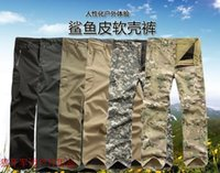 Wholesale High Quality Men s TAD Shark Skin Outdoor Pants Waterproof Breathable Male Elastic Sports Trousers Cargo Pants camouflage Pants