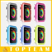 Wholesale 2015 Newest Transparent Cover Protective Ultra Slim Case For Apple Watch iwatch mm mm With OPP Package