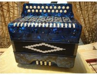 Wholesale DHL Accordion bass child professional firston perfect navy blue