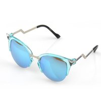 Wholesale 2015 Fashion Hot Sale Europetyle Star Style UV400 Protection Hight Quality Woman s Glasses Metal PC Frame Cat Eye Lucency Different Colors