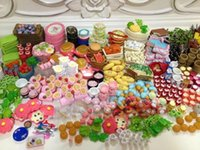 doll accessories - 60Pcs Re ment Mini Food Tableware Miniatures Lovely Dollhouse Meal Drink Megahouse For Barbie BJD Doll House Play Toys
