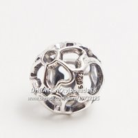 Wholesale NEW S925 Sterling Silver Primrose Charm Beads Fit European Style Jewelry Bracelets Necklaces Pendants BE217