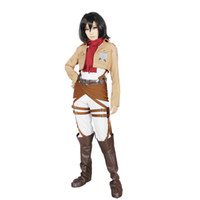 Wholesale Milica Books Attack on Titan Shingeki No Kyojin The Training corps Mikasa Ackerman Cosplay Costume Japanese Anime cosplay Costumes
