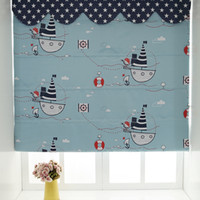 Wholesale New Arrival Cartoon Roman Blinds For Children s Bedding Room Ready Made Pirate Curtains Blackout