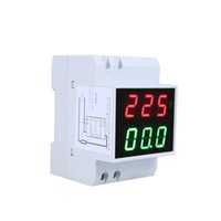 Wholesale AC80 V A Dual Display Tester Digital Din Rail LED Voltage Ammeter Current Meter Voltmeter order lt no track