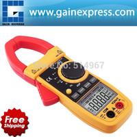 Wholesale Professional Multifunction Digital AC DC Clamp Meter Multimeter Capacitance Ohm Auto Manual Ranging counts