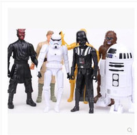 Wholesale Dhgate Children Toys Figures Star Wars Darth Maul Darth Vader Master Yoda Doll Luke Skywalker Stormtrooper Action Figure Model Toy set