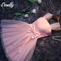 ballerina tulle dress - Ballerina Party Dress Sweety New Ribbon Bow Slim Short Mini Prom Party Dresses A Line Off Shoulder Ball Grown Dresses