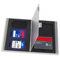 Wholesale Multi Slots Memory Card Storage Case Box Aluminum EVA SD TF MMC Card Protector Holder High Quality