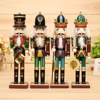 Wholesale 2016 New cm Nutcracker puppet soldiers home decorations for Christmas creative ornaments and Feative and Parrty Christmas gift
