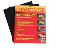 Wholesale BBQ Grill Mat Set of Non Stick Reusable Washable Plate PTFE Coated Telflon Mats DHL Free sets