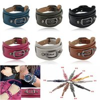 Cheap Rivet metal Wild Simple belt buckle Individuality Incredible Temperament Fashion Leather bracelet