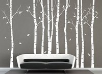 tree face - X Large White Birch Tree Wall Decal Sticker Poster Tree Decoration Wallpaper Kids Photoframe Art Right Facing