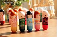 Wholesale 2015 New Arrival Lip Balm Lipstick Cute Cartoon Lip Balm Kimono Doll Flavor Lip Balm Nourishing Moisturizing DHL Free