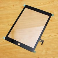 Wholesale For iPad Air Touch Screen Digitizer Assembly Glass iPad5 Front Lens Without Home Button Replacement Part White Black DHL