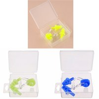 Wholesale Soft Silicone Swimming Nose Clips Ear Plugs Earplugs Gear Pool Water Sports Comfort Set Kit with case box