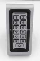 Wholesale 125khz EM Card And Password Bule Backlight RS485 Metal Keypad Waterproof RFID Access Control Keypad With Card Reader