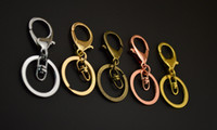 Wholesale KC rose gold Metal Key Ring Chains Make Key Chain Rings with Swivel Lobster Clasp Fit Car Keys