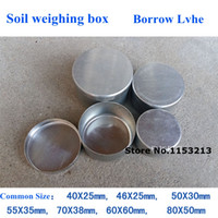 aluminum specification - 20pcs Constant weight aluminum case aluminum box Borrow ring knife Lvhe soil weighing box Lvhe A variety of specification