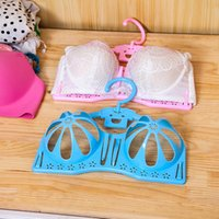 Wholesale Plastic Bra Drying Clothes Rack Anti deformation Underwear Hanger Hanger g Storage Rotate Degrees Enclosed Little Hook