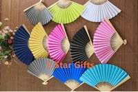 Wholesale 100PCS Wedding Paper Fan Bride Hand Fan with bamboo ribs Craft Fan wedding bridal shower favor party gift