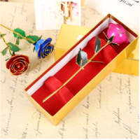 Wholesale love forever Long Stem Dipped k Gold Foil Trim Red Rose Best Gift for Valentine s Day Mother s Day
