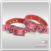 luxury pet products - Dog Collars Pet Products Bling Luxury Rhinestones Charm Pet Collars Leather Buckle Collar MOQ
