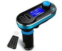 audio subs - 1pcs T66 MP3 Player Double SUB Chargers Car Kit FM Transmitter With Car Audio Remote Control LCD Display