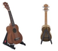 Cheap Hot Universal Adjustable Folding A-Frame Ukulele Violin Stand Black Portable Musical Tool High quality