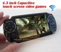 Wholesale New inch touch screen game player console android4 wireless WIFI tablet pc Function games camera