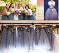 Wholesale Real Images Bridesmaids Tutu Skirt Adult Women Tutu Tulle Skirt Bow Sash Knee Length Formal Party Evening Tutu Skirt For Girl