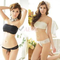 Wholesale Good Price Lace Bra Sets Sexy Women Bra Underwear Set Push Up A B Bra Set Bra Panty Set Romantic Black White SV005400