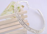 austrian crystal bridal jewelry - Austrian Crystal Diamond Bridal Tiaras Auger Jewelry Shiny Wedding Accessories statement Bride Necklaces Pendants DHL Free
