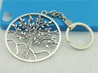 Wholesale 20pcs Key Chain mm big Tree of Life Round Shape charm Key Rings