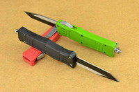 color knife set - 2015 small Microtech Single Tanto Blade Fine Egde Scarab A161 A162 A07 color handle hunting knives collection knife L