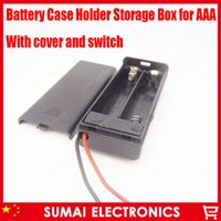 Wholesale Perfect Quality New hold AAA Battery Holder Box V battery Box Case with ON OFF Switch Black