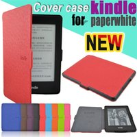 Wholesale Tablet PC Cases Amazon Kindle Paperwhite Leather Cover Case Screen Protector Pen