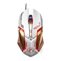 Wholesale NEW DPI Wired Gaming Mouse Optical Professional Game Mouse Buttons PC Computer Mouse Gamer Mice D Scroll Wheel White V8