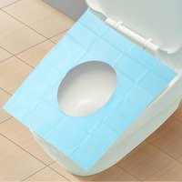 Wholesale 10 Disposable Paper Toilet Seat Covers Camping Festival Travel Waterproof Toilet Paper Pad