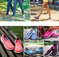 Wholesale 2015 Newest Skechers Air Mesh Breathable Go Walk Gowalk Slip On Walking Shoes Running Shoes C